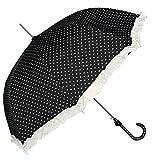 Schirm Regenschirm Stockschirm schwarz Herzen weiß Ø 93 x 90 cm Clayre & Eef JZUM0008Z