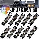 LED Strobe Emergency Lights, DIBMS 10x Amber...