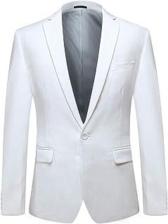 YOUTHUP Men's Suits Jacket Slim Fit Wedding Prom Tuxedo Blazer 1 Button Multiple Color