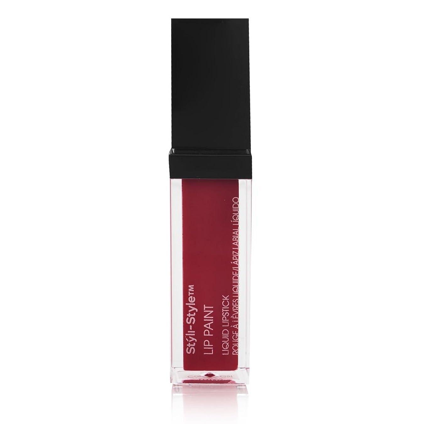 まあ保有者シンクStyli-style Cosmetics スタイラススタイルリップはリキッド口紅市スリッカーペイント 赤