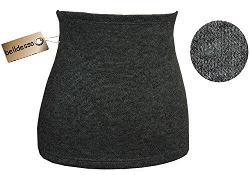 Belldessa Angora Wolle - grau - Nierenwärmer / Bauchwärmer / Rückenwärmer - Größe: Kinder 11-15 Jahre - ideal auch für Blasenentzündung und Hexenschuss / Rückenschmerze