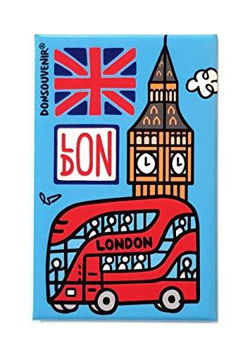 Magnetico Londra. Modello: London Bus E Big Ben. CALAMITA da FRIGO.