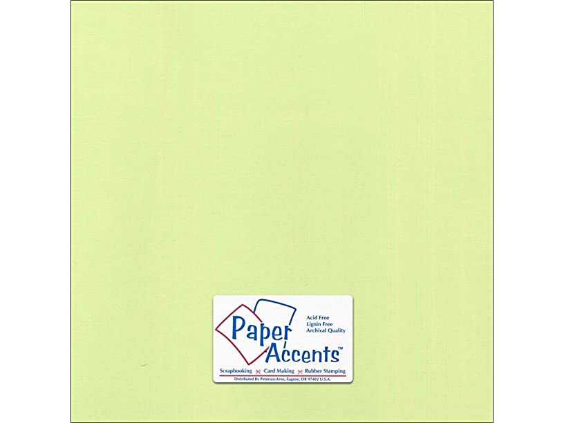 Accent Design Paper Accents Cdstk Canvas 12x12 80# Lime Pop