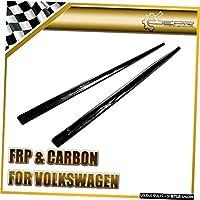 VWゴルフ7GTIカーボンファイバーOEMサイドスカートエクステンション光沢ファイバーオ