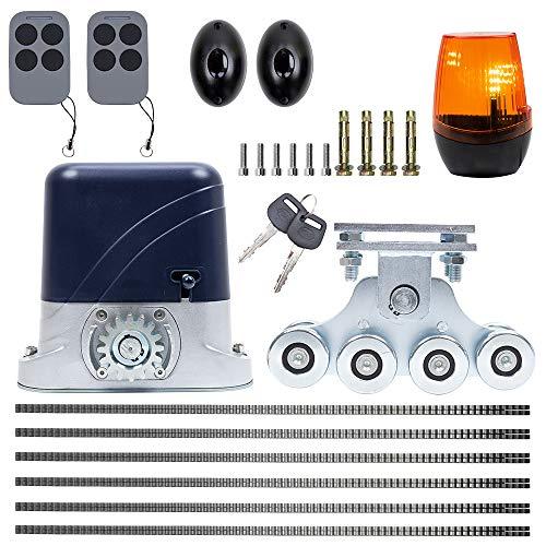 Kit de automatización autoportante para puertas PNI AP600, motor, ruedas, celdas fotográficas, mando a distancia, lámpara y portaequipajes, 6 metros
