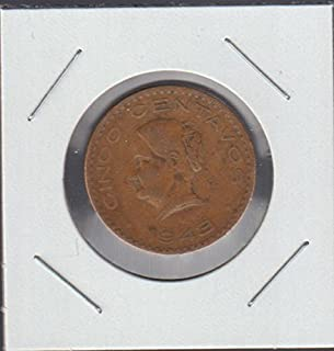 1943 Mexico National Arms, Eagle Left Nickel Choice Fine