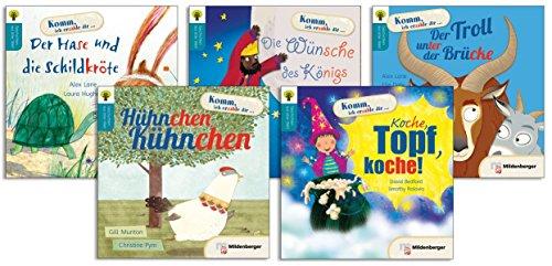 Geschichten aus aller Welt - Set 1: Einzelbände: Der Hase und die Schildkröte; Die Wünsche des Königs; Der Troll unter der Brücke; Hühnchen Kühnchen; Koche, Topf, koche!