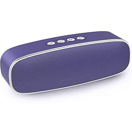 CHICAI Altavoz portátil, TWS Bluetooth 5.0 Altavoz inalámbrico con sonido estéreo de graves de 10 W, tiempo de reproducción 12H, batería incorporada de 2000 MAh (púrpura)