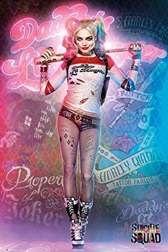 empireposter 744760 Suicide Squad - Harley Quinn Stand - Druck Plakat Film Poster, Papier, Bunt, 91.5 x 61 x 0.14 cm