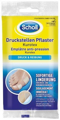 Scholl Druckstellen Pflaster-Kurotex, 2er Pack (2 x 5 Stück)