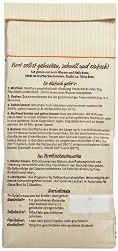 Bauckhof Vollkorn-Bauernbrot-Backmischung (500 g) – Bio - 3
