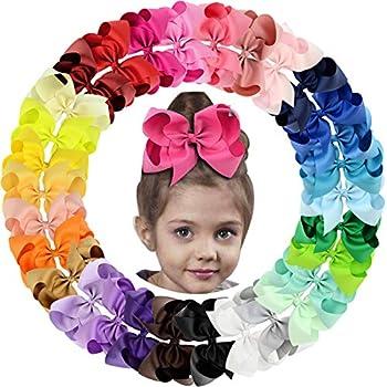 30Pack 6in Grosgrain Ribbon Hair Bows Baby Girl s Clips Large Big Hair Bows Clips For Baby Girls Teens Toddlers