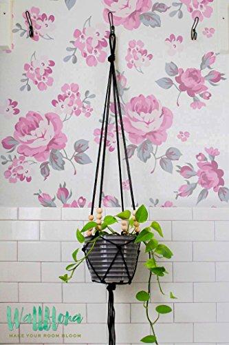 Rose et Dame de Rocket Papier peint Motif fleurs - Papier Peint Autocollant Amovible Papier peint autocollant mural fleur Sticker mural - Motif floral, 53 Cm wide by 243 Cm Tall