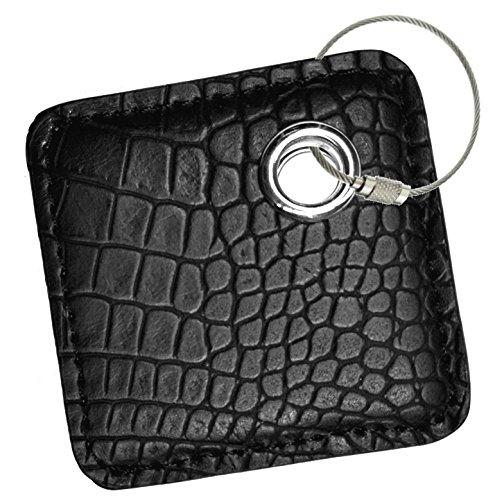 ashion key chain cover style accessories for tile skin phone finder key finder item finder (only case, NO tracker included). black crocdile, FOR tile pro/ tile style/ tile mate