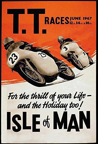 Schatzmix TT Races 1967 Isle of Man Motorrad rennen urlaubsziel Metal Sign deko Sign Garten Blech
