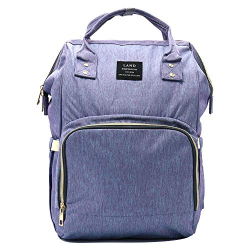 Land Baby Diaper Bag Backpack - Multi-Function Waterproof Maternity Travel Nappy Bags for Baby Care - Large Capacity, Durable and Stylish (Dark Blue)