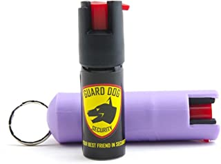 Guard Dog Security Hard Case Pepper Spray – Keychain and Belt Clip Included – Self Defense Spray – with UV Identification Dye – 16' (5m) Accurate Spray Range – Free Replacement for Life Program