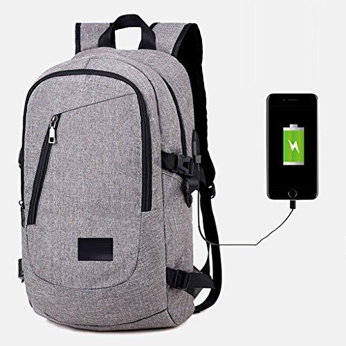 TENDA.FEI Sac à Dos pour Ordinateur Portable avec Port de Chargement USB pour Ordinateur Portable de 15,6 Pouces