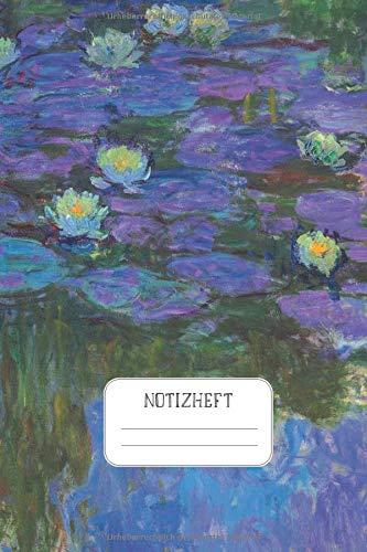 Notizheft: Impressionisten Punktraster Notizbuch Claude Monet Wasserlilien Nympheas_en_fleur Design Heft für Notizen Skizzen - ein Kreatives Geschenk für Kunstliebhaber