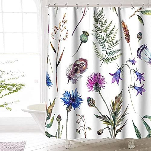 Distel Duschvorhang Premium Polyester wasserdicht Distel Duschvorhang für Badezimmer Dekor 72 x72