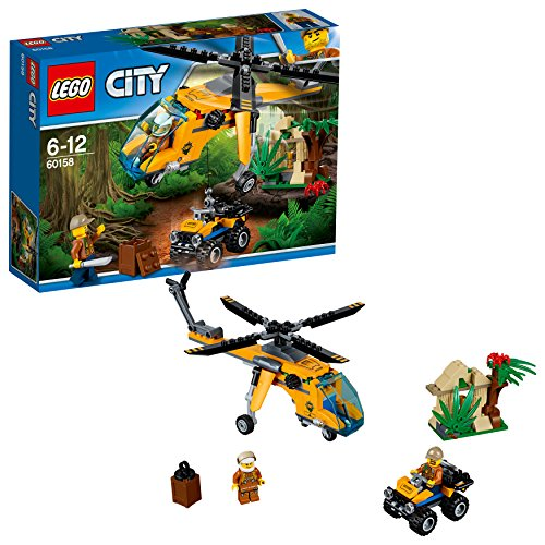 """LEGO City 60158 - """"Dschungel-Frachthubschrauber Konstruktionsspiel, bunt"""