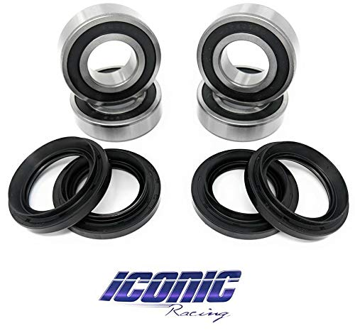 Iconic Racing Both Rear Wheel Bearings Compatible With 05-09 Polaris Ranger 700 4x4 700 4x4 Crew 6x6 700 EFI