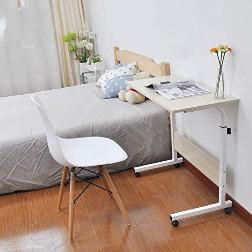 Laptop Tisch Sofa Tisch Beistelltische Medizinischer Nachttisch, höhenverstellbarer mobiler Überbetttisch, Notebook-Schreibtischsofa Beistelltisch für den Krankenhaus- und Heimgebrauch, vier Räder B