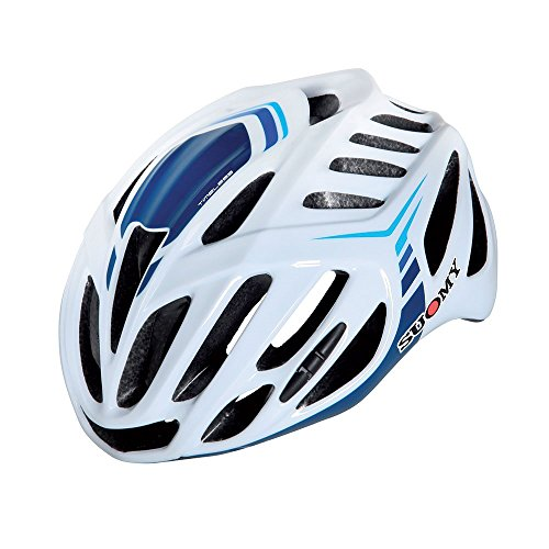Suomy Casco Bici Timeless Bianco / 3blu Taglia M (Caschi MTB e Strada) / Road Helmet Timeless White / 3blue Size M (MTB And Road Helmet)