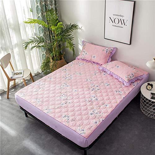 B/H Spannbettuch,Baumwolle Bedruckte Dicke rutschfeste Tagesdecke Bettlaken-M_150 * 200cm,Weiches Bettlaken