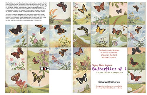 Butterflies #1 Colors Guide Companion: A Companion Volume to the Traditional Outlines Edition (Flying Their Colors)
