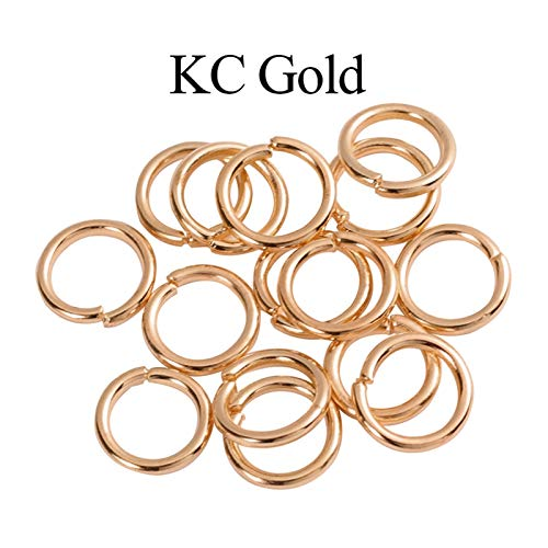 Jewelry Accessories 200pcs/bag 3-10 Mm Loops Jump Rings Split Rings Connectors Single Open Circle Jewelry Findings Making Accessories for Jewelry and Crafts Making ( Color : KC Gold , Size : 6 mm )
