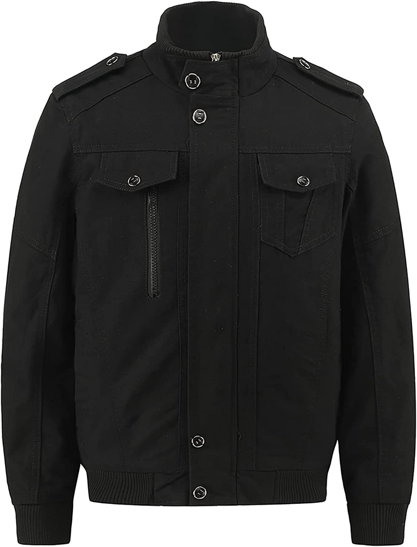 Men's Workwear Jackets Plus Size Jacket Military Cargo Bomber Working Jackets With Multi Pockets Warm Coats
