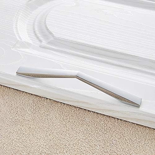 Heydayling 3 PCS Cromo Brillante aleación de Zinc Pulido Gabinete de baño de la manija