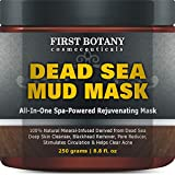 100% Natural Mineral-Infused Dead Sea Mud Mask 8.8 oz for Facial Treatment, Skin Cleanser, Pore...