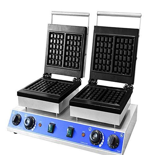 Máquina para Hacer gofres Comercial Máquina de gofres eléctrica Control de Temperatura y Tiempo para gofres Dorados esponjosos Adecuada para restaurantes panaderías y refrigerios familiare