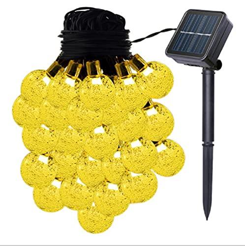 VIFLYKOO Guirnaldas Luces Exterior Solar,7 M 50 LEDs cálidas bolas de cristal...