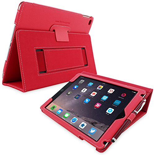 iPad Pro 9.7 Case, Snugg - Red Leather Smart Case Cover Apple iPad Pro 9.7 Protective Flip Stand Cover with Auto Wake/Sleep