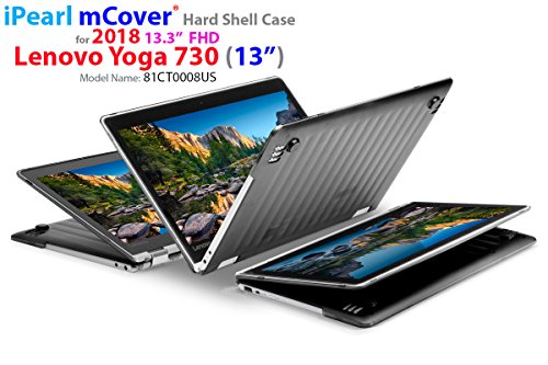 "mCover Hard Shell Case for New 2018 13.3"" Lenovo Yoga 730 (13) Laptop (NOT Compatible with Yoga 710/720 / 910/920 Series) (Yoga 730 Black)"