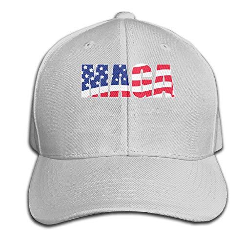 LouisBerry, Cappello da Sandwich con Visiera Regolabile, con Bandiera Americana, Colore Puro, Donna, Grigio, Taglia Unica