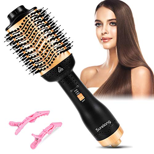 Hair Dryer Brush, Hair Dryer Brush Blow Dryer Brush in One,Hair Dryer and Volumizer Hot Air Brush,Fasting Drying Salon Results Volumizer for Girl and Women Drying, Styling ,Straightening, Curling