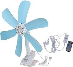YAOHEHUA Elektrische ventilator, multifunctioneel, muet, wandbevestiging, clip, ventilatorhouder, opvouwbaar, ventilator m...
