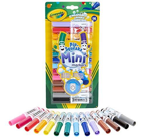 Crayola - 14 Mini feutres à colorier - Loisir créatif - Coloriage - papeterie - dessin - à partir de 3 ans - Jeu de dessin et coloriage