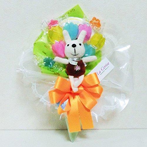 キャンディーブーケ 手持ち チューリップ ウサギさん Sサイズ (グリーン)
