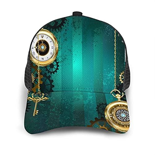 Gorra de Beisbol Espalda de Malla Senderismo al Aire Libre Sombrero Deportivo,Los productos industriales antiguos relojes de llaves y cadenas con Inf,Gorra de Sol de Enfriamiento para Hombres Mujeres