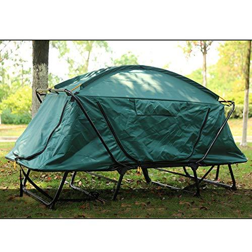 Double camping de montagne gratuit Multi-fonction à deux étages de pêche Construit Tente hors-sol Camouflage Wilderness Adventure Coupe-vent Imperméable Pique-nique Imperméable au froid Chaud Alpinism