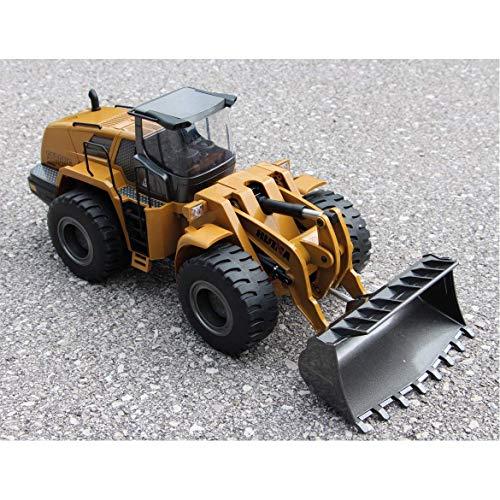 RC Baufahrzeug kaufen Baufahrzeug Bild 1: FM- Electrics FM1583  Die Cast Metall-Radlader mit Sound 1:14 mit 10 Kanal Sender Huina 583*