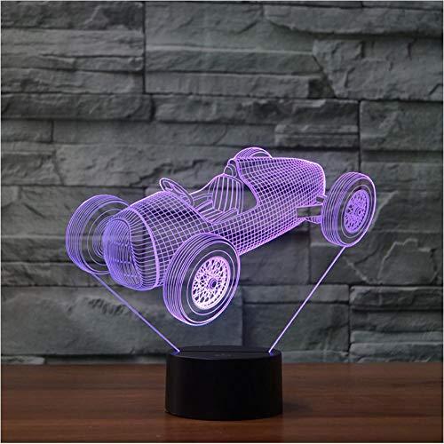 Gran Torino Touch Wecker Tischlampe 7 Farben Wechsel Schreibtischlampe 3d Lampe Neuheit Led Nachtlichter Todesstern Led Licht