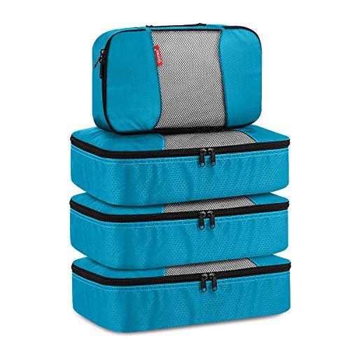 Gonex Packing Cubes Travel Luggage Organizers Different Set 3 Medium+1 Small Purple