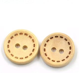 """50//100pc Mix /""""hecho a mano/"""" Botones de Madera 2 Agujeros Coser Accesorios Manualidades WB507"""