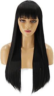 Hairpieces Hair Extension Wigs Rose Net Black Long Straight Hair Wig Set 70cm Hair Hair Weave